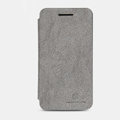 Nillkin leather Cases Holster Covers Skin for BlackBerry Z10 - Gray (High transparent screen protector)