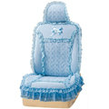 VV 3D satins flower lace Custom Auto Car Seat Cover Set - Blue