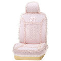 VV 3D satins flower lace Custom Auto Car Seat Cover Set - Pink