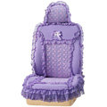 VV 3D satins flower lace Custom Auto Car Seat Cover Set - Purple