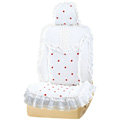 VV 3D satins flower lace Custom Auto Car Seat Cover Set - White