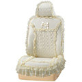 VV 3D satins flower lace Custom Auto Car Seat Cover Set - Yellow