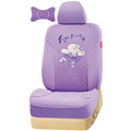 VV Bear grid fabric Custom Auto Car Seat Cover Set - Purple
