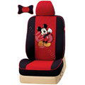 VV Disney Mickey Mouse mesh Custom Auto Car Seat Cover Set - Black Red