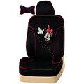 VV Disney Minnie Mouse velvet Custom Auto Car Seat Cover Set - Black
