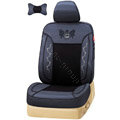 VV Lyocell mesh Custom Auto Car Seat Cover Set - Black Blue