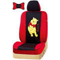 VV Winnie the pooh mesh Custom Auto Car Seat Cover Set - Red Black
