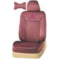 VV camel velvet Custom Auto Car Seat Cover Set - Red