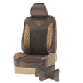 VV velvet mesh Custom Auto Car Seat Cover Set - Coffee