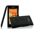 IMAK Ultrathin Matte Color Cover Hard Case for HTC 8X - Black (High transparent screen protector)