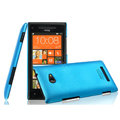 IMAK Ultrathin Matte Color Cover Hard Case for HTC 8X - Blue (High transparent screen protector)