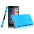 IMAK Ultrathin Matte Color Cover Hard Case for Sony Ericsson L36i L36h Xperia Z - Blue (High transparent screen protector)