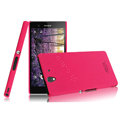 IMAK Ultrathin Matte Color Cover Hard Case for Sony Ericsson L36i L36h Xperia Z - Rose (High transparent screen protector)