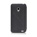 Nillkin leather Cases Holster Covers Skin for MEIZU MX2 - Black (High transparent screen protector)
