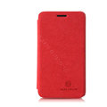 Nillkin leather Cases Holster Covers Skin for MEIZU MX2 - Red (High transparent screen protector)