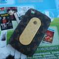 LV Louis Vuitton Flower leather Case Holster Cover Skin for BlackBerry Curve 8520 9300 - Brown