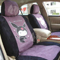 Disney Melody Custom Auto Car Seat Cover Set Suede - Purple Black