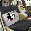 Disney Mickey Mouse Custom Auto Car Seat Cover Set Suede - Black Gray