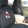 Disney Mickey Mouse Custom Auto Car Seat Cover Set Suede - Black