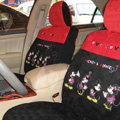 Disney Mickey Mouse Custom Auto Car Seat Cover Set Suede - Red Black