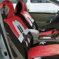 Disney Mickey Mouse Custom Auto Car Seat Cover Set Suede - Red Coffee