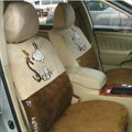 Disney Snoopy Custom Auto Car Seat Cover Set Suede - Brown Beige