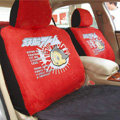 Disney Superman Custom Auto Car Seat Cover Set Suede - Red