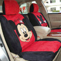 Mickey Mouse Disney Custom Auto Car Seat Cover Set Suede - Black Red