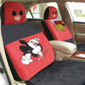 Mickey Mouse Disney Custom Auto Car Seat Cover Set Suede - Red Black