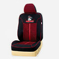 VV Mickey Mouse mesh Disney Custom Auto Car Seat Cover Set - Black Red
