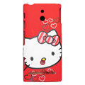 Hello Kitty Matte Hard Case Cover Shell for Sony Ericsson LT22i Xperia P - Red