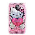 Hello kitty Bling Crystal Case Rhinestone Cover for Samsung i9250 GALAXY Nexus Prime i515 - Pink