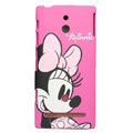Minnie Mouse Matte Hard Case Cover Shell for Sony Ericsson LT22i Xperia P - Rose