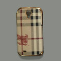 Burberry leather Case Hard Back Cover for Samsung GALAXY S4 I9500 SIV - Brown
