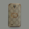 GUCCI leather Case Hard Back Cover for Samsung GALAXY S4 I9500 SIV - Brown