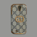 GUCCI leather Case Hard Back Cover for Samsung GALAXY S4 I9500 SIV - Gray