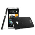 IMAK Cowboy Shell Hard Case Cover for HTC One M7 801e - Black (High transparent screen protector)