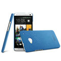 IMAK Cowboy Shell Hard Case Cover for HTC One M7 801e - Blue (High transparent screen protector)