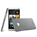 IMAK Cowboy Shell Hard Case Cover for HTC One M7 801e - Gray (High transparent screen protector)