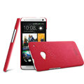 IMAK Cowboy Shell Hard Case Cover for HTC One M7 801e - Rose (High transparent screen protector)