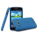 IMAK Cowboy Shell Hard Case Cover for Samsung i829 Galaxy Style Duos - Blue (High transparent screen protector)