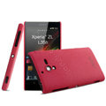 IMAK Cowboy Shell Hard Case Cover for Sony L35h Xperia ZL - Rose (High transparent screen protector)