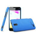 IMAK Cowboy Shell Hard Case Cover for ZTE U956 - Blue (High transparent screen protector)