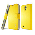 IMAK R64 lines leather Case support Holster Cover for Samsung GALAXY S4 I9500 SIV - Yellow