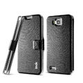 IMAK Slim leather Case support Holster Cover for Samsung i8750 ATIV S - Black
