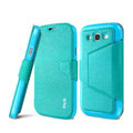 IMAK Squirrel lines leather Case support Holster Cover for Samsung i9080 i9082 Galaxy Grand DUOS - Blue