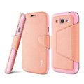 IMAK Squirrel lines leather Case support Holster Cover for Samsung i9080 i9082 Galaxy Grand DUOS - Pink