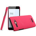 IMAK Ultrathin Matte Color Cover Hard Case for HTC J butterfly X920d - Rose (High transparent screen protector)