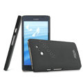 IMAK Ultrathin Matte Color Cover Hard Case for HUAWEI Ascend D2 - Black (High transparent screen protector)