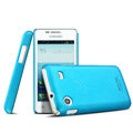 IMAK Ultrathin Matte Color Cover Hard Case for Samsung i8258 - Blue (High transparent screen protector)